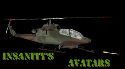 Custom Cobra Gunships in various different camo textures with custom seqs